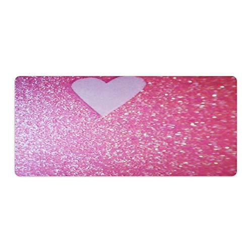 Alfombrilla de ratón para escritorio y portátil, diseño de amor, color rosa, 700 x 400 x 3 mm, color rosa