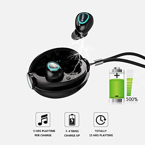 Mini Auricular Bluetooth Inalambricos Invisible TWS Auriculares Bluetooth Manos Libres Deportivo IPX5 Estéreo y Cancelación de Ruido