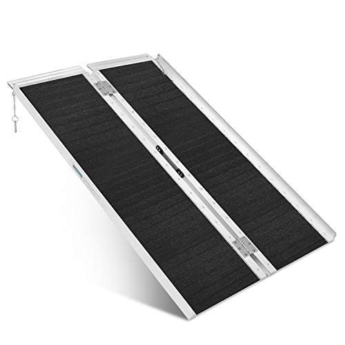 ORFORD Non Skid Wheelchair Ramp 4FT, Utility Mobility Access Threshold Ramp for Home Steps Stairs Doorways Scooter