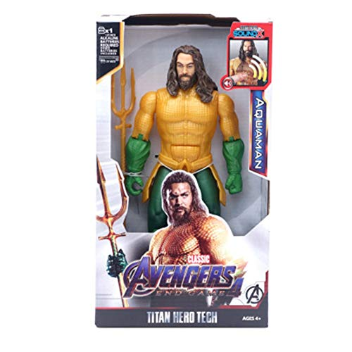 Letaowl Actionfiguren 30cm Helden Black Panther Thany Captain Thor Iron Man Spiderman Hulkbuster Hulk Action Figure (Color : Aquaman NO Box)