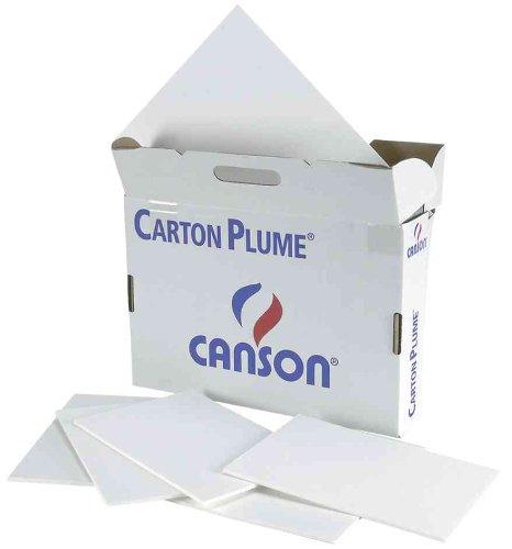 Paquete A3, (17 Hojas) Canson Cartón Pluma 5mm Blanco