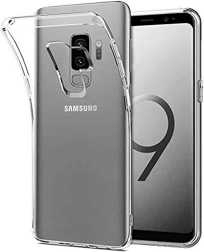 Captor Cover Trasparente per Samsung Galaxy S9 Plus, Custodia TPU in Silicone Flessibile Morbida e Sottile, Protezione Full Body con Bordo Rialzato per Schermo e Fotocamera