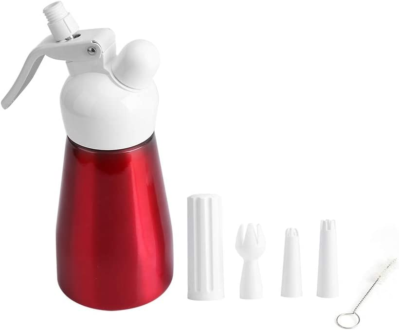Portable Miami Mall red aluminum free shipping cream frother 250mL Aluminum Red