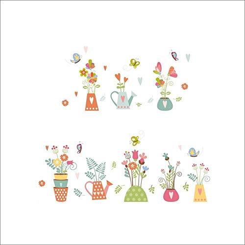 Leeypltm Creatieve bloempot, muurstickers, afneembaar, decoratief, keuken, woonkamer, wandsticker, als verjaardagscadeau
