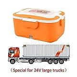 PROKTH Fiambrera electrica para Coche, camion y Trabajo - Fiambrera de Acero Inoxidable - Termo Comida Caliente - Voltaje 12V y 24V