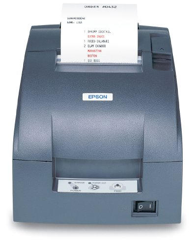 Cheapest Price! Epson C31C514667 Dot Matrix Receipt Printer TM-U220B, Ethernet, Autocutter, Power Supply Included, Dark Gray