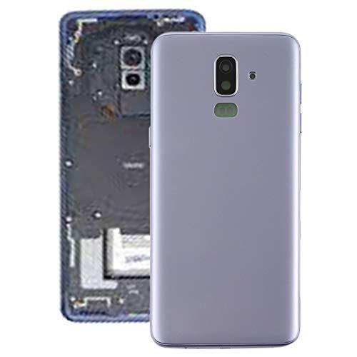 DMYHMC Sam AYSMG contraportada con Teclas Laterales y Lente de la cámara for el Galaxy J8 (2018), J810F / DS, J810Y / DS, J810G / DS (Negro) (Color : Grey)