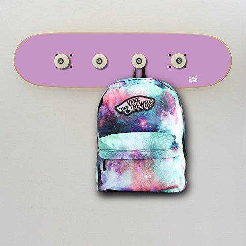Skateboard Komplettboard Garderobe Dekoration für Skater Geschenk für Zimmer, Wandgarderoben Violett