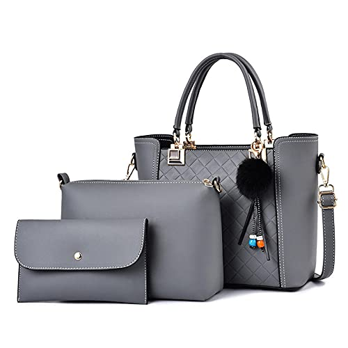 BeniNew Ladies Bolsa de hombro Bunge de tres piezas-gris