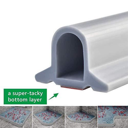 Zusammenklappbarer Duschschwellen-Wasserdamm, ideal für rollstuhlgerechte, barrierefreie oder ADA-Duschen, Dusche Bad Boden Dichtung Wasserdamm Duschschwelle Barriere-Wasserstopper (Grau,200 cm)
