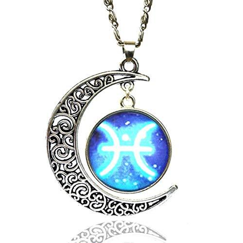 Halsketting Fici VENURY 08 sterrenbeeld en maan pisces Oroscopo