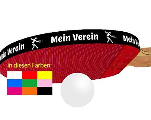 3 STK. Tischtennis Kantenband 8 mm mit eigenem Text