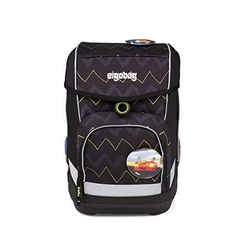 ergobag cubo Set - ergonomischer Schulrucksack, Set 5-teilig - 200 BärStärke - Black