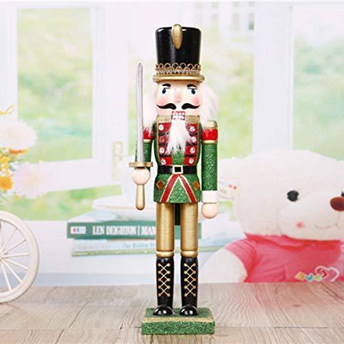 Magent Weihnachten Nussknackerfiguren Nussknacker Figur | 30cm Weihnachten Holzdekoration Nussknacker Soldat Schmuck