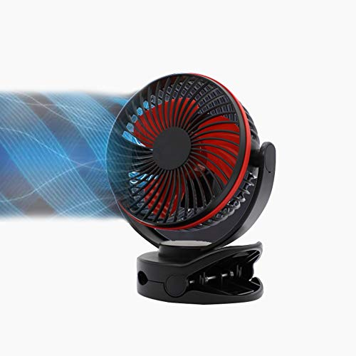 JXJJD Mini Ventilador USB Portátil Personal Ventilador, 3600mAh Recargable Batería Ventilador de Silencioso, 360 Grados de Rotación, 4 Velocidades para la Oficina, Hogar,Viajar