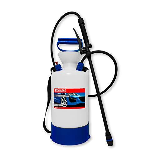 Brestol Pulvérisateur à pression 6 litres avec joint Viton® résistant à l'acide – Pulvérisateur pour produits chimiques 3 bar avec valve de surpressio