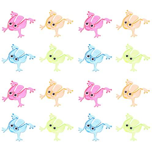 STOBOK 20 Piezas de Rana Saltarina Mini Juguete de Rana Saltarina de Plástico Juguete de Presión para Niños Pequeños Animales Saltarines de Juguete de Promoción para Fiestas (Estilo