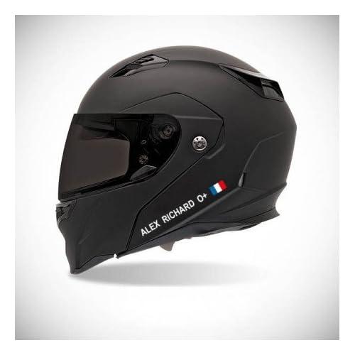 EUSKAL HERRIA EH Autocollant pour Casque de Moto Sticker Identité - Couleur Sticker - Blanc