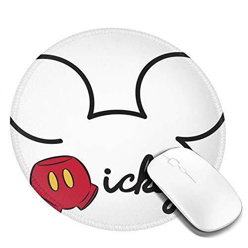 Omigge Alfombrilla De Ratón Redonda De Dibujos Animados, Alfombrilla De Ratón con Base De Goma Antideslizante para Ordenador Y Portátil, Figura de Mickey Mouse de Disney