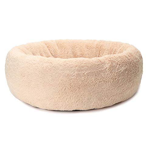 Kalmerende Bed Plush Wasbaar Cat House Soft Cotton Mats For Kleine Grote Hond Chihuahua Hondenmand Pet Bed Dog Tag (Color : Camel, Size : L)