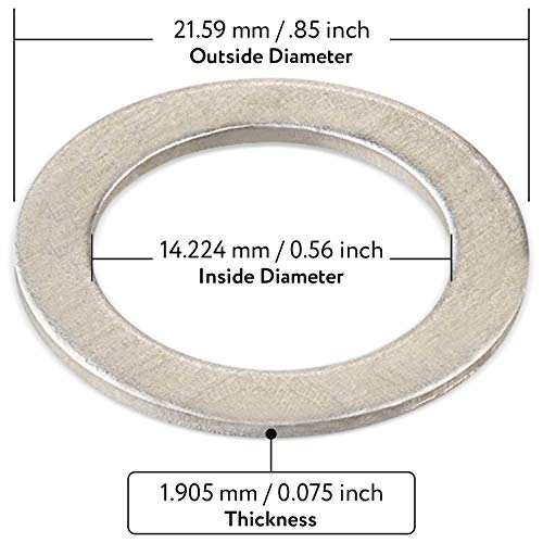 20-Pack of Oil Crush Washers/Drain Plug Gaskets compatible with Honda - compatible with OEM 94109-14000 - Fits Civic, Accord, CR-V/CRV, Pilot, Odyssey and More - By Mission Automotive
