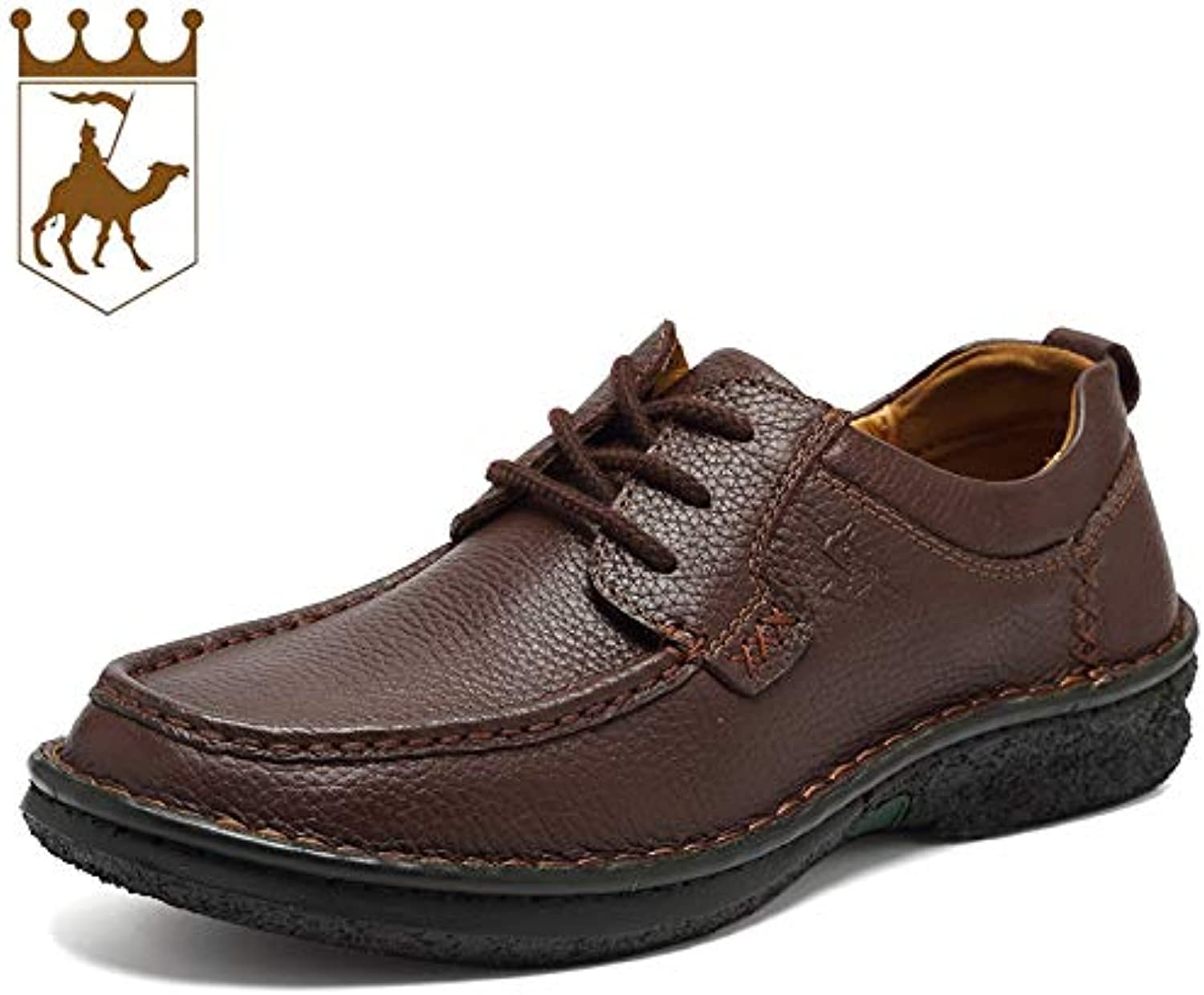 LOVDRAM Boots Men's Autumn And Winter Leather Men'S shoes Leather Lace Men'S Handmade shoes Fashion Casual shoes Men'S Fashion
