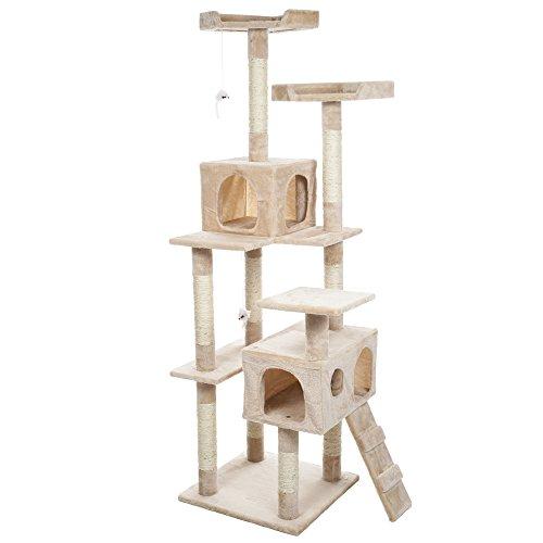 PETMAKER Skyscraper Sleep amp Play Cat Tree 55 feet Beige