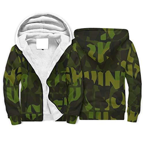 Herren Fleece Hoodies Jacken mit Tasche für Teenager Jungen und Mädchen Teenager White XL