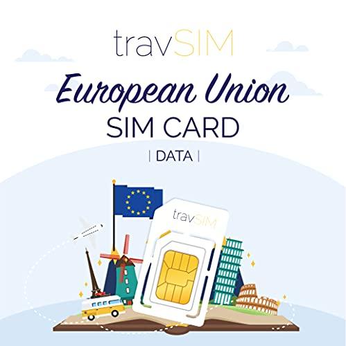 travSIM - Tarjeta SIM Prepago de la Unión Europea (SIM de Datos...