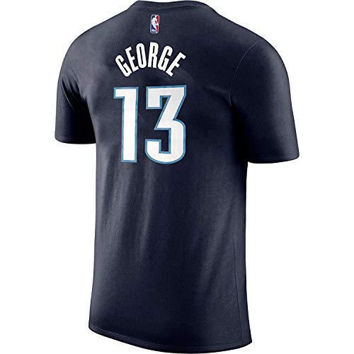 Paul George Oklahoma City Thunder #13 Navy Blue Youth Performance Name & Number Shirt (Small 8)