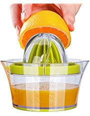 4 in 1 Handknijper, SenPuSi Citroenoranje Squeezer Manual Citrus Hand Juicer met 2 Ruimers & Meetcontainer, Groen