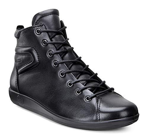 Ecco Damen Soft 2.0 Chelsea Boots, Schwarz (BLACKWITHBLACKSOLE 56723), 39 EU