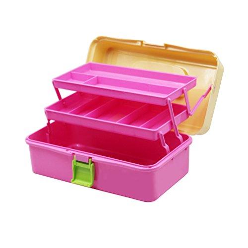 YUNCLOS 収納ボックス 小物収納ケース 工具箱 3段式ツールボックス 収納ボックス 薬 プラスチック 工具収納 3段 折り畳み式 大容量