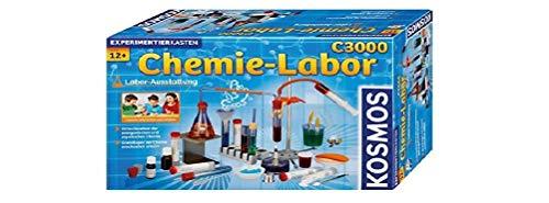 KOSMOS C3000 - Chemielabor, hochwertiges Labor für 330 anspruchsvolle Experimente, Chemie für Kinder ab 12 Jahre, umfassender Lehrgang, Experimentierkasten