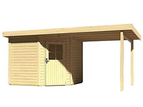 Karibu Woodfeeling Gartenhaus Neuruppin 2 natur mit Schleppdach 2,40 Meter