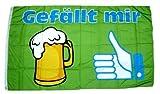 Fahne / Flagge Bier Gefällt mir 90 x 150 cm Fahnen Flaggen