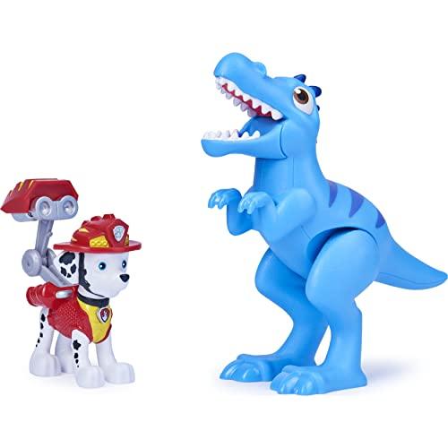 PAW PATROL, for Kids Aged 3 And Up Dino Rescue Marshall e Dinosaur Action Figure Set per Bambini dai 3 Anni in su, Colore Grigio, 6059510