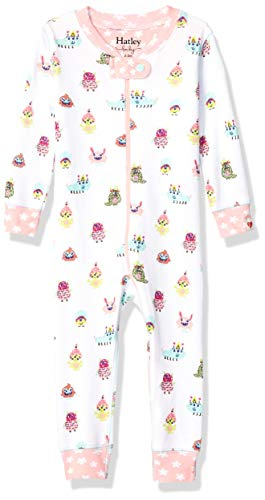 Hatley Baby Girls Organic Cotton Sleepers, Funny Creatures, 6-9 Months