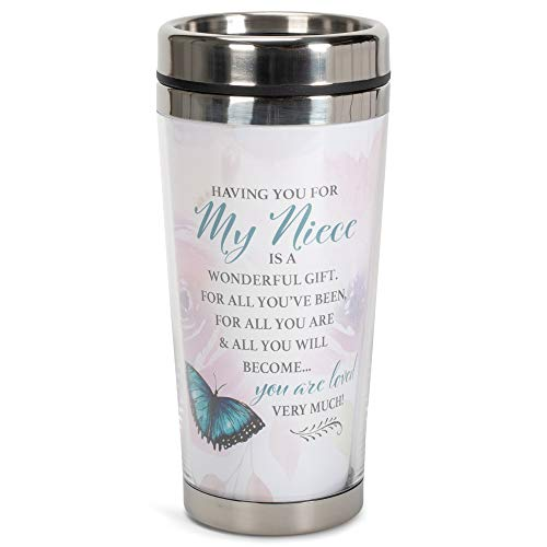 Niece You are Loved 16 Oz Stainless Steel Travel Mug with Lid
