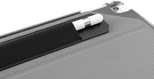 Apple Pencil 1 & 2 Holder Sticker - Peel N Stick Elastic Stylus Pocket - ZUGU CASE (Black)