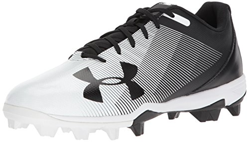 Under Armour Men's Leadoff Low RM Baseball Shoe, Black (011)/White, 12