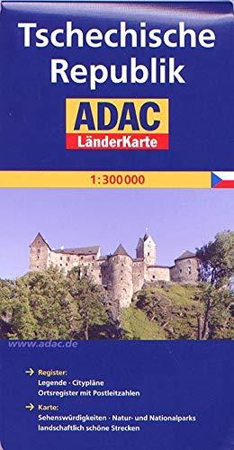 ADAC Länderkarte Tschechische Republik 1:300.000 (ADAC LänderKarten)