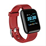 LLOOMMB Pulsera Inteligente Bluetooth Smart Watch Hombres Presión Arterial Smartwatch Mujeres Heart Rate Monitor Fitness Tracker Sport para Android iOS China Red
