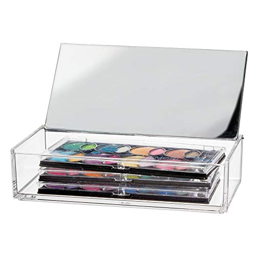 mDesign Kosmetik Organizer – kleine Aufbewahrungsbox für Eyeliner, Mascara und andere...