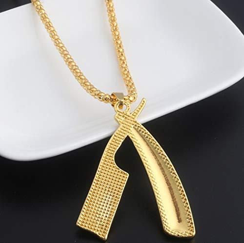 FOR TMT Halskette Persönlichkeit Gezeiten Marke Waschen Und Blasen Serie Halskette Klinge Rasiermesser Halskette Metall Anhänger Geschenk