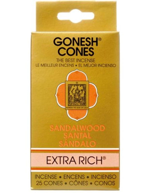 高齢者脆い辞任するガーネッシュ(GONESH) エクストラリッチ インセンス コーン サンダルウッド(白檀) 25個入(お香)