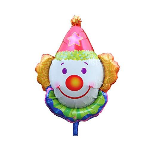 linjunddd Clown-Gesicht Folienballon Lustige Jumbo Lächeln Clown Aluminiumfolienballon Weihnachten Urlaub Party Dekoration Rot