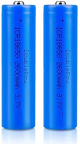Haed Pointu 18650 Batteries 3.7v Rechargeables 2600mAh Grande capacité Li-ION Batterie 18650 Lithium-ION Batteries Piles Rechargeable Batteries pour Lampe de Poche LED, appareils électroniques(2 Pcs)