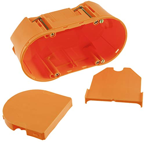 ChiliTec Unterputz UP Elektronik Geräte-Dose | Winddicht | 2-Kammer Geräte-Dose, 2x68mm x 75mm | 10 Stück