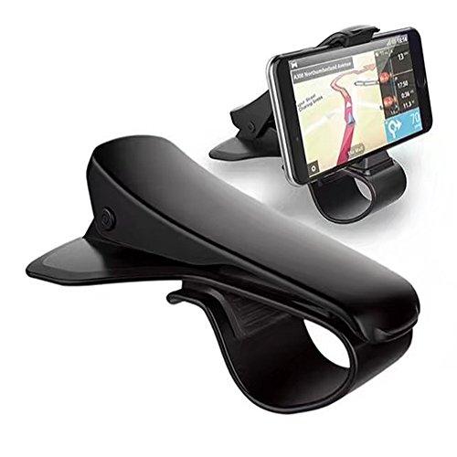 Smilemall クリップ式 カーマウント スマホ車載ホルダー カーホルダー HUD設計 安全運転  着脱簡単 iOS/An...